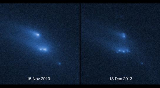哈勃景观小行星P / 2013 R3神秘地崩解