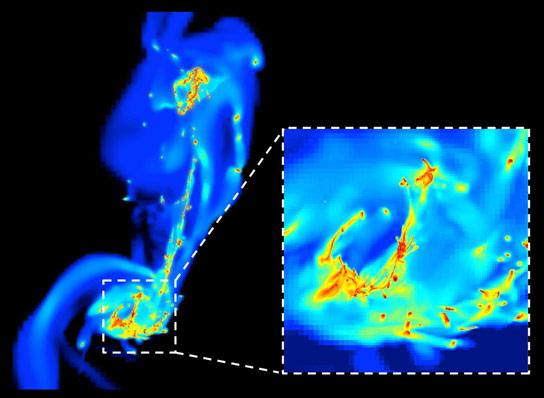 天体物理学家揭示了为什么星系碰撞时明星形成的浪涌发生