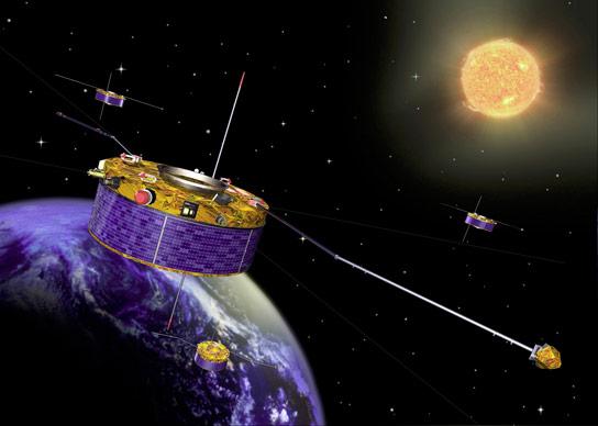 太阳脉风如何通过地球的磁场破裂