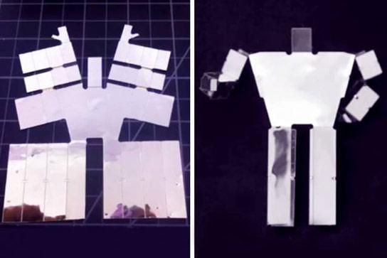可打印的机器人在加热时自组装