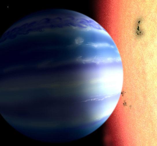 新的红外技术检测到太阳系外的行星气氛中的水