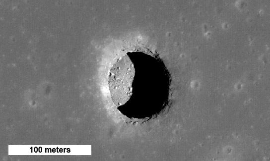 LRO揭示月球坑可能支持人类在月球表面的活动