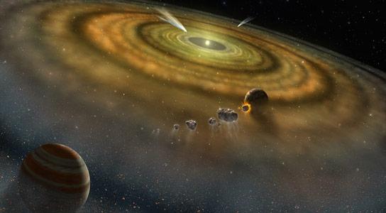 恒星原行星盘的早期化学作用塑造了宜人的气氛