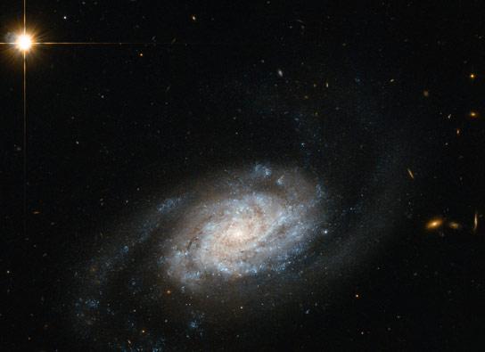 最新发布的螺旋星系NGC 3455的哈勃图像